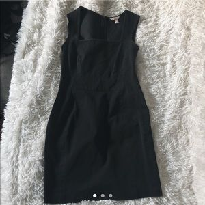 Banana Republic black square neck dress 8